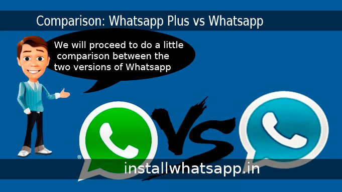little comparison between the two versions of Whatsapp
