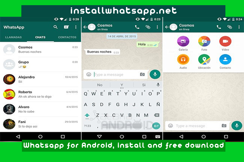 Whatsapp for Android, install and free download