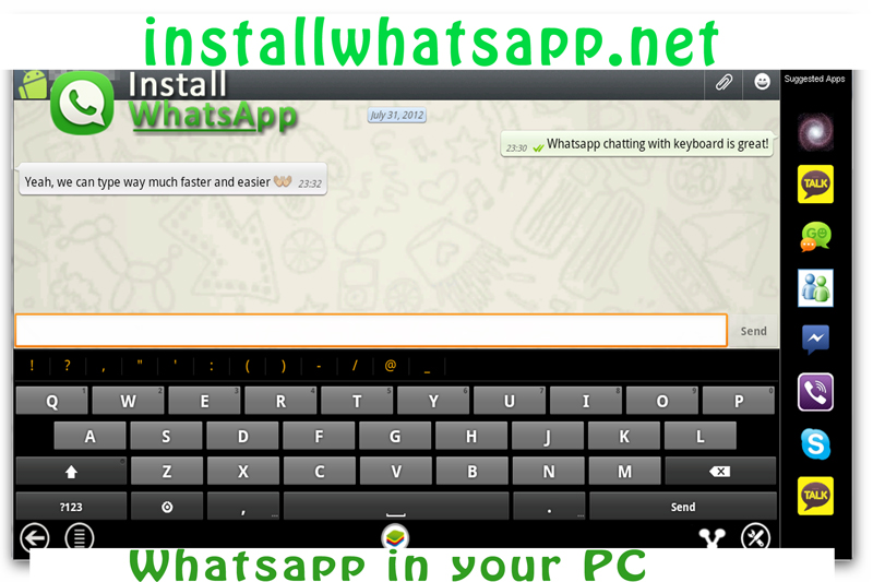 Whatsapp in your PC its free